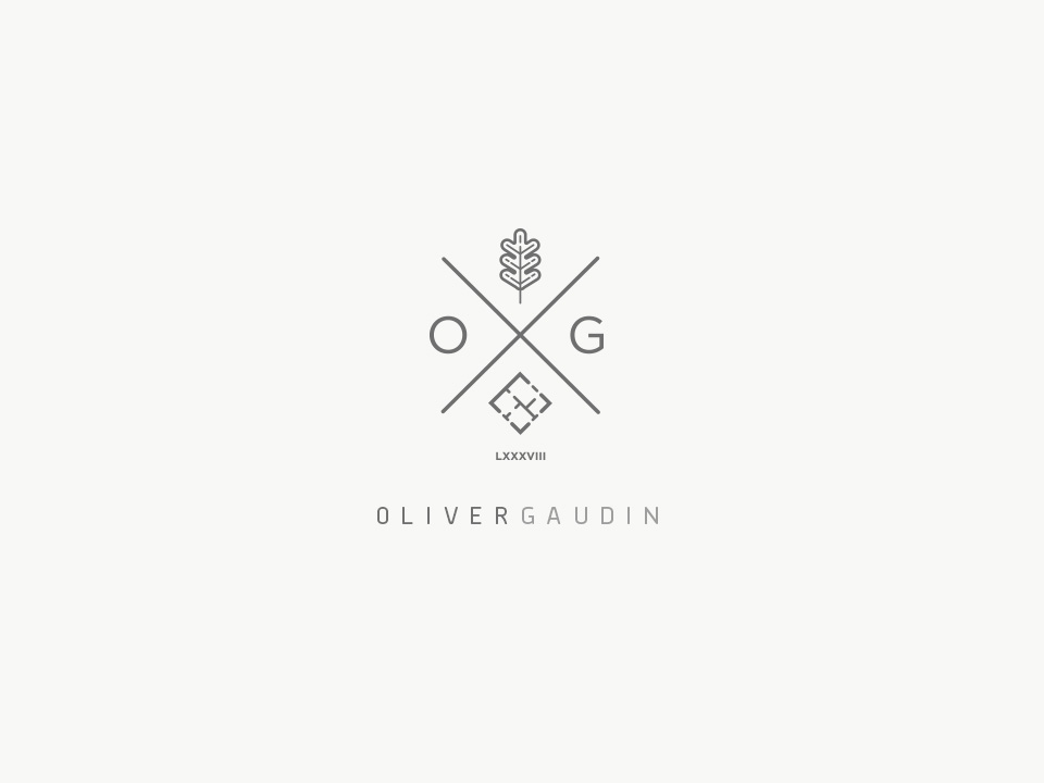 Crest style logo design for oliver gaudin by twinbrush
