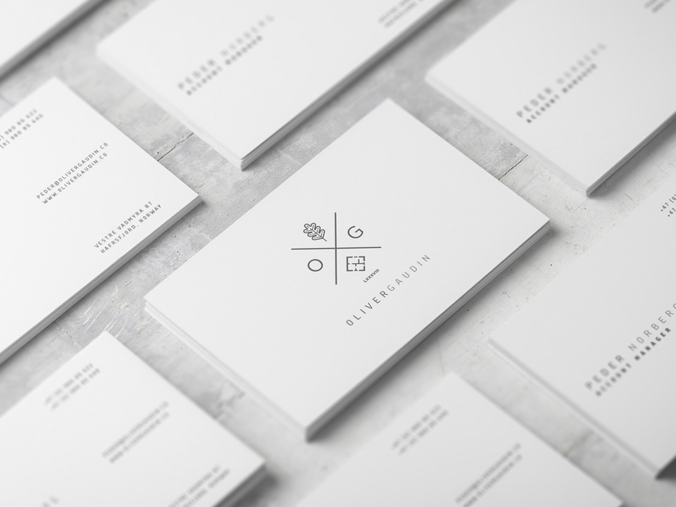 stack of business cards designed by twinbrush